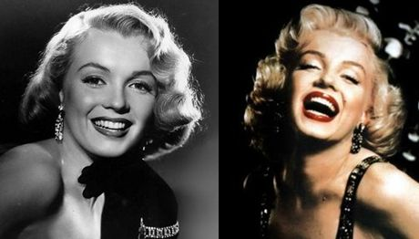 Marilyn Monroe Before and After